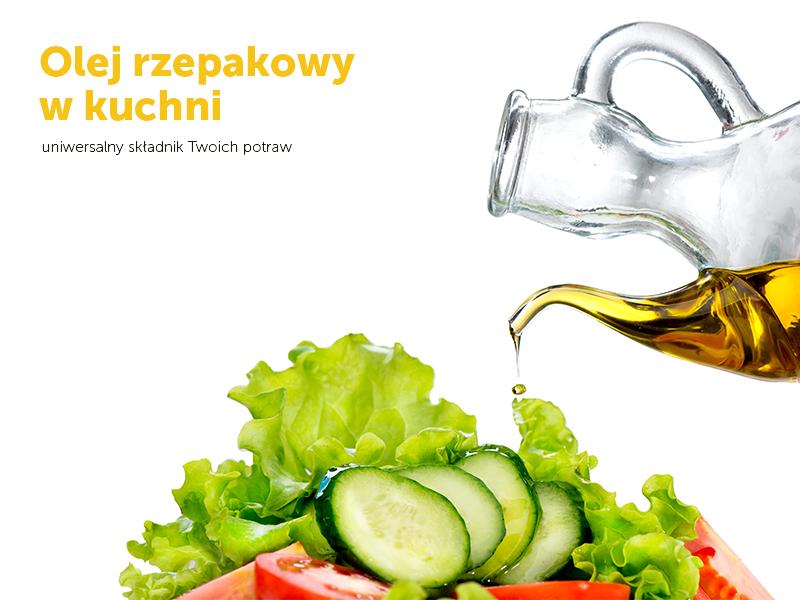 Olej rzepakowy w kuchni